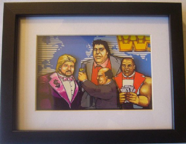 WWF Superstars MegaBucks 3D Diorama Shadow Box